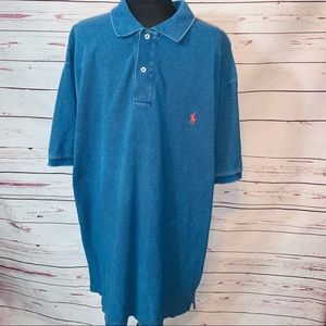 Vintage POLO RALPH LAUREN Denim Collar Polo Shirt.